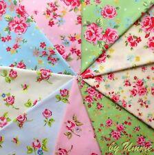 Pastel Rosa Florales 100% Tela De Algodón - 6 Grandes Cuartos En bulto artesanía, patchwork