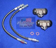 Cadillac 1962-1964 2x Rear Wheel Cylinders & 2x Rear Brake Hoses 62 63 64