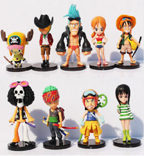 New Straw Hats Luffy Roronoa Zoro Action Figures Kids Toys Cake Topper Models