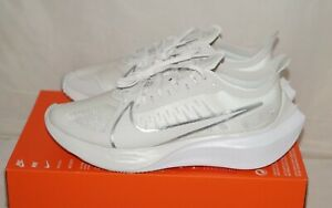 NWOB Authentic NIKE ZOOM GRAVITY White Silver Metallic Running Shoes Size 9 M