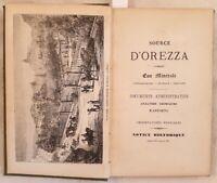 SOURCE D'OREZZA CORSE CORSICA OREZZA ACQUA MINERALE FRIZZANTE IDROLOGIA 1860