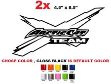 (#534) ARCTIC CAT Logo Snowmobile Team vehicle decal and window sticker graphics