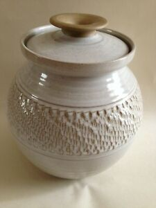 Lovely Studio Pottery Pot with Lid and potters Mark