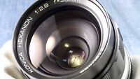 scarce Konica Hexanon AR 35mm f2.8 prime wide angle full frame lens