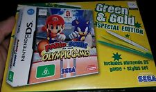 Mario and Sonic at the Olympic Games LIMITED EDITION Green & Gold NEW SEALED DS