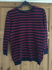 FOREVER 21 Ladies Pretty Navy/Red Striped Jumper Size S