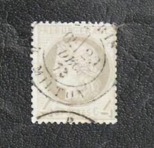 TIMBRES DE FRANCE : 1871/75 CERES 4 CENTIMES GRIS Oblitéré - RARE CADRE BRISé !!
