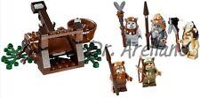 LEGO Star Wars 10236 Village EWOK SET Catapult Minifigs Figures Teebo Wicket NEW