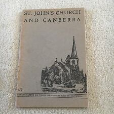 ST. JOHN'S CHURCH AND CANBERRA. L.F. FITZHARDINGE. 1941