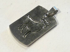 Bijou acier  pendentif grand format signe du zodiaque bélier pendant
