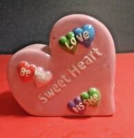 COLLECTIBLE SWEETHEART COIN BANK PINK CERAMIC