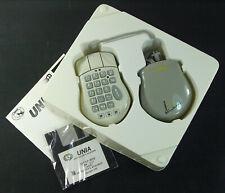 Vintage Unia Serial 3-Bitton Numeric Keypad Ball Mouse