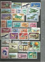 Flugzeuge Aviones Briefmarken Planes Timbres Sellos Stamps Luftfahrt Ballon