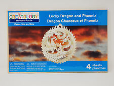 Creatology Lucky Dragon and Phoenix Wooden Puzzle Model Kit