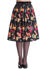 Hell Bunny Hermeline Skirt Vintage Retro Rockabilly 50s Animal Fox Print Party
