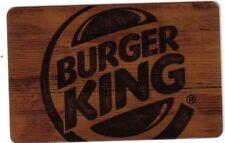 CANADA BURGER KING classic brown Gift Card - New No Value BILINGUAL