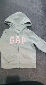 Girls 3 Years Gap Grey Zip Up Hoodie