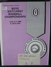 1988 OH Boys 61 Baseball Championships Program