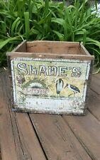 Fabulous Antique Congress Brand Wooden Box D&L Slade Co Original Writing & Sign