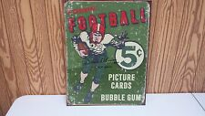 """FOOTBALL TIN SIGN  SIGNED BY """"2013 HALL OF FAMER"""" DAVE ROBINSON SPECIAL SIGN"""