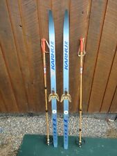 "Ready to Use Cross Country 54"" KARHU 140 cm Skis WAXLESS Base +  Poles"