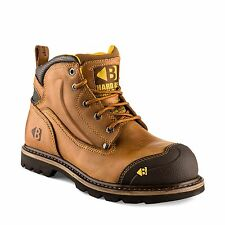 Buckler B550SM Anti-Scuff Safety Work Boots Autumn Oak Leather (Sizes 6-13) Mens