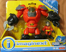 IMAGINEXT GOTHAM CITY DC Super Friends ROBIN MECHANICAL SUIT ~ Fisher-Price