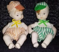 Vintage Tweedledee And Tweedledum Bisque Dolls...RARE!