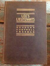 "Three Volume Set ""Lee's Lieutenants"" By Douglas Southall Freeman, Scribner 1944"