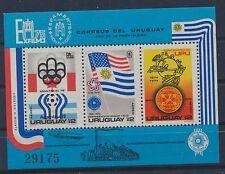 Uruguay Block 28 postfrisch / Fußball (4983) ...................................