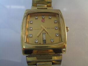 Rado NCC 505 Mens Watch Day & Date Calendar Automatic Gold Plated Gold Dial
