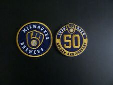 "LOT OF 2-DIFFERENT MILWAUKEE BREWERS"" BASEBALL Embroidered  Iron On Patches"