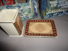 Croscill Chapel Hill Marquis Green Burgundy Ceramic (2Pc) Tumbler And Soap Dish