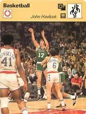 FICHE CARD: John Havlicek USA Joueur Small forward/Shooting guard Basketball 70s