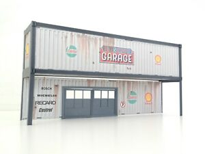 Car Models Display Scale 1:43 3D Background Container Garage Diorama Parts