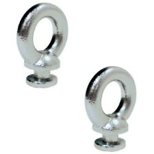 Pack of 2 Polished Stainless Steel Fender Lock Spare Eyes for Boats