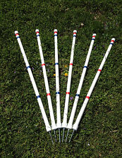 Dog Agility Equipment Stick in the Ground Weave Poles w/variable length peg!