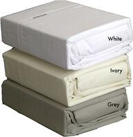 WHITE 300TC 100% COTTON KING Bed Sheet Set Logan & Mason Platinum Collection