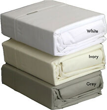 GREY Driftwood 300TC 100% COTTON Queen Bed Sheet Set Logan & Mason Platinum Col.