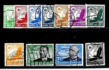 GERMANY STAMPS #C46-C56  —  SET (11) GLOBE AIRMAILS -- 1934 -- USED