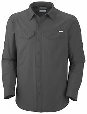 Columbia Herren Outdoorhemd Funktionshemd Hemd langarm grau uni Gr. XXXL 62 NEU