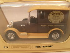 1978 MATCHBOX MODELS OF YESTERYEAR DIE-CAST Y-5 1927 TALBOT VAN WRIGHT'S MIB