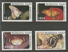 Briefmarken mit Insekten- & Schmetterlings-Motiven aus Burkina Faso