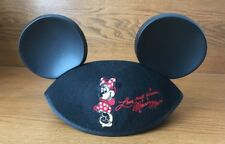 Disney Mickey Mouse Ears Cap Hat Love and Kisses Minnie Mouse Youth Size