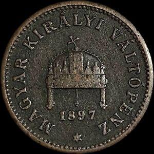 1897 Hungary 1 Filler - Körmöcbánya Mintmark (Slovakia)