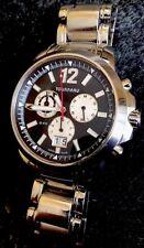 Tourneau Mens Seapearl Watch 5050.B Sapphire WR 20ATM Swiss Chronograph 42mm