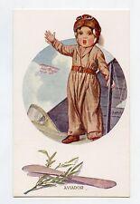 illustrateur CHANTECLER . L'aviateur . Enfant . Child aviator