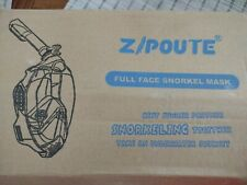 ZIPOUTE Snorkel Full Face Snorkel Mask S/M