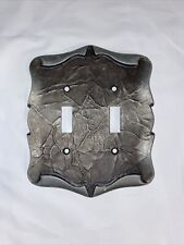 Amerock Hardware Antique Silver CARRIAGE HOUSE Double Switch Wall Plate Cover