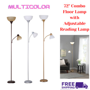 72 Inch Floor Lamp Living Room Light Stand Scoop Shade Reading Torchiere SALE